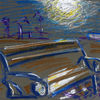 The Bench under the Moon in the Port. 2015. Anatolkin